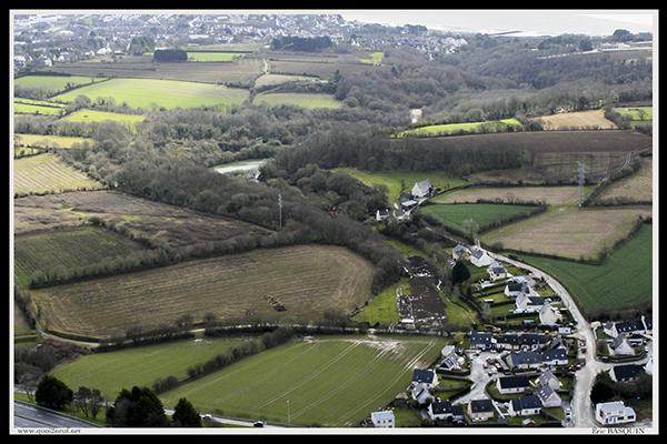 vue aérienne vallée du costour